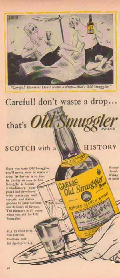 Old Smuggler Scotch – Lost at Sea, Careful Horitio (1949)