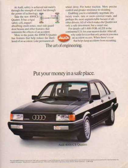 Audi 4000 CS Quatto 1985 Car – The art of engineering. (1985)