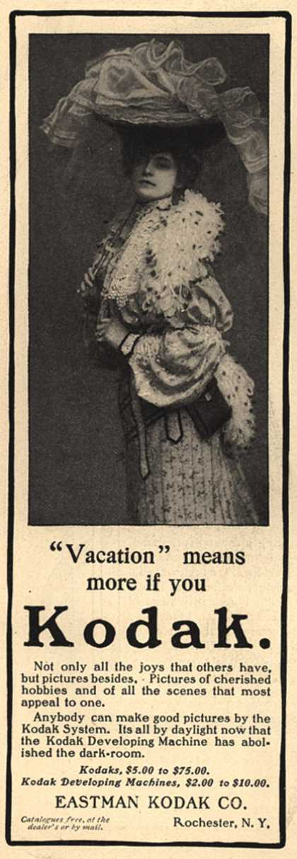"Kodak – ""Vacation"" means more if you Kodak. (1903)"