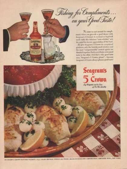 Seagrams 5 Crown Whiskey (1944)