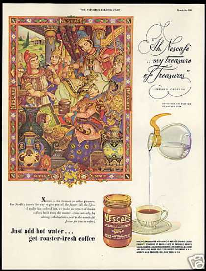 Nescafe Coffee Croesus Treasure Arthur Szyk Art (1946)