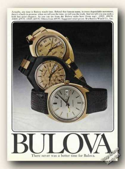 Bulova Wrist Watches Nice Color (1976)
