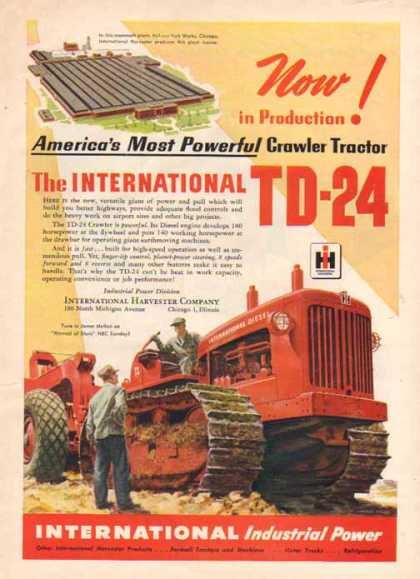International Harvester – TD-24 Tractor – Sold (1948)