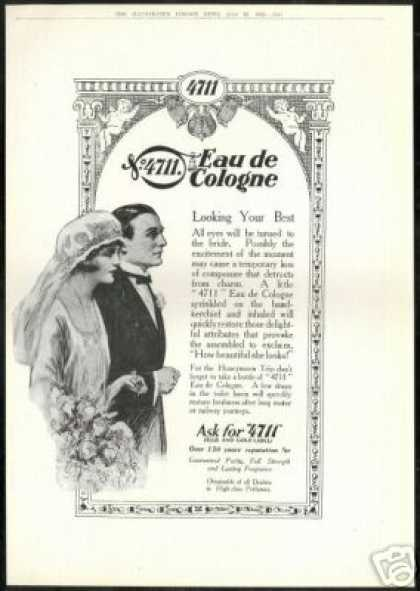 Wedding 4711 Eau De Cologne Vintage Print UK (1924)