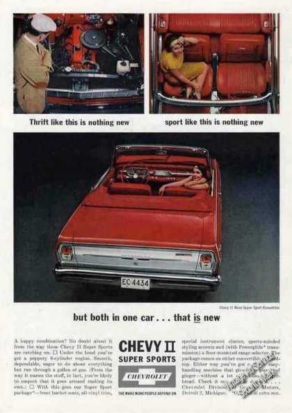 Chevrolet Chevy Ii Super Sport Convertible Car (1963)