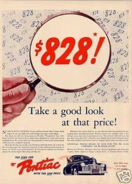 "Pontiac Car Ad ""Take a Good Look... (1941)"