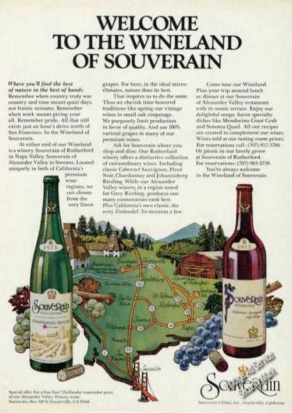 Welcome To the Wineland of Souverain (1975)
