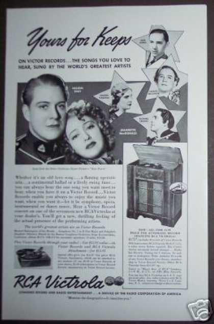 Nelson Eddy Victor Records Rca Victrola (1938)