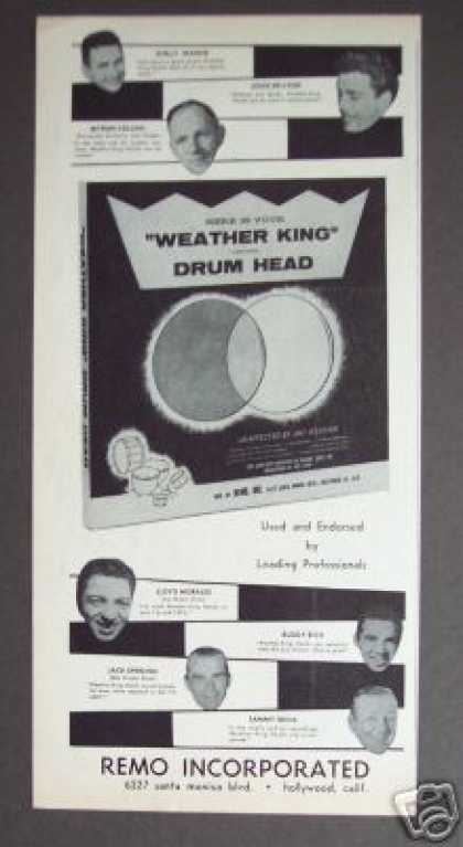 Remo Weather King Drum Head Famous Drummers (1958)