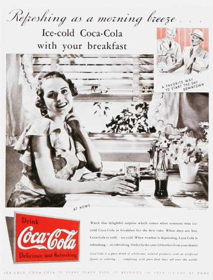 Vintage Coke Coca Cola Advertisements Of The 1930s Page 3