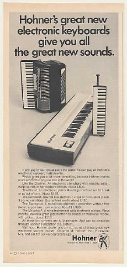 Hohner Clavinet Electravox Melodica Keyboards (1968)