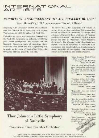 Thor Johnson's Little Symphony of Nashville (1967)