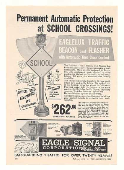 Eagle Signal Eaglelux School Traffic Beacon (1950)