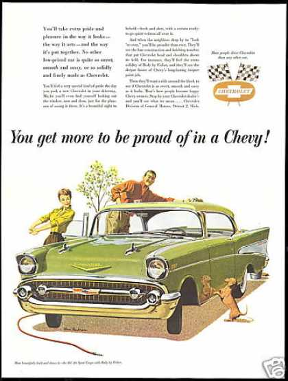Chevrolet Bel-Air Car Dachshund Dog (1957)