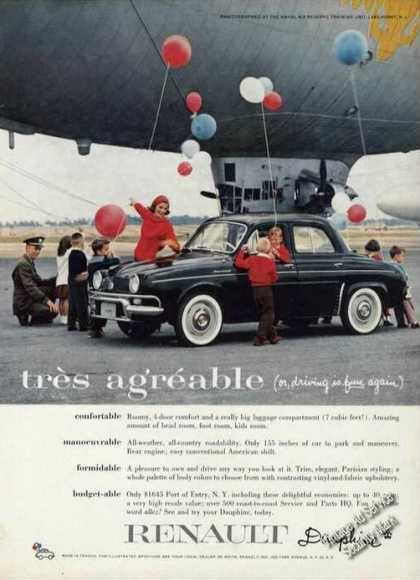 Renault Dauphine Tres Agreable Lakehurst Nj (1958)