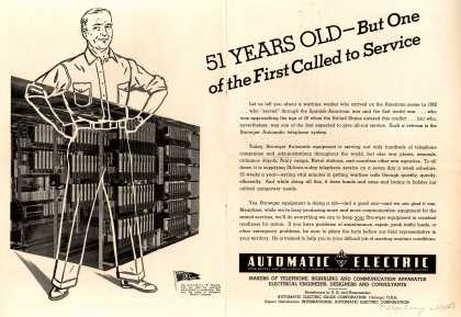 Automatic Electric Company's Telephone – 51 Years Old-But One of the First Called to Service (1943)