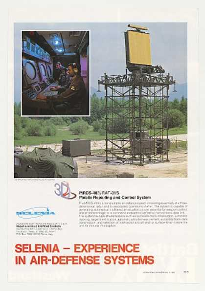 Selenia MRCS-403 RAT-31S Mobile Radar Sys Photo (1980)