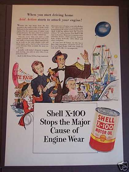 Shell X-100 Motor Oil Family at the Fair (1953)