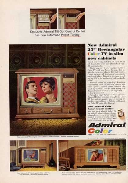 Admiral Color Tv Television Cabinet (1966)