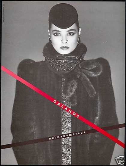 Galanos Mink Fur Coat Neiman Marcus Photo (1983)