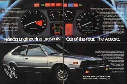 Honda Engineering Presents Car of Year Accord (1977)
