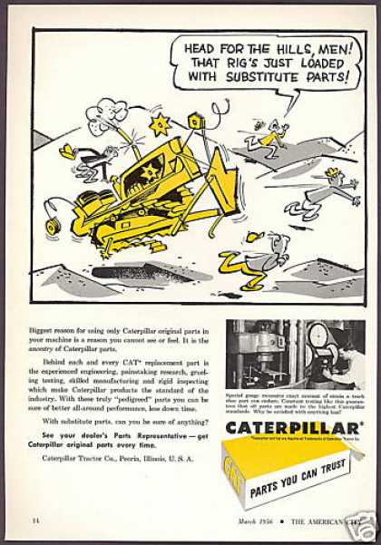 Caterpillar Tractor Co Original Parts (1956)
