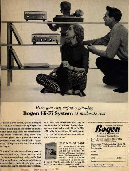 Bogen High-Fidelity's high-fidelity music system – How you can enjoy a genuine Bogen hi-fi System at moderate cost (1956)