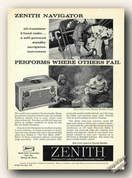 Zenith Navigator Excellent In Most Airplanes (1958)