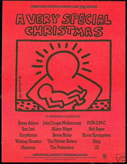 Keith Haring Art Special Olympics Christmas Rec (1987)