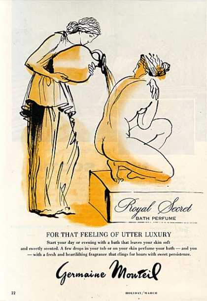 Germaine Monteil's Royal Secret Bath Perfume (1960)