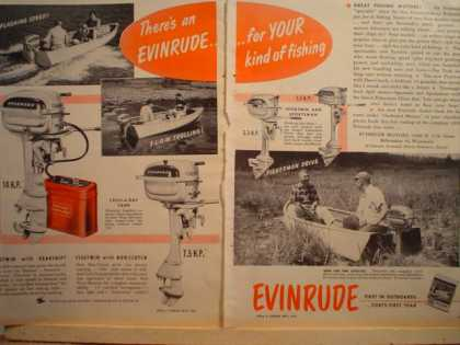 Evinrude Boat Motors Fishing 2 pg (1950)
