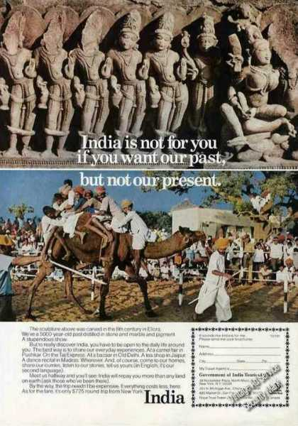 "India Travel ""Not for You If Past Not Present"" (1975)"