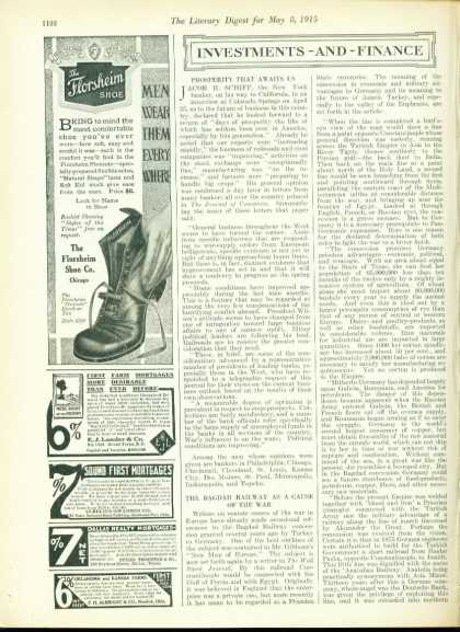 The Florsheim Shoe the Flexsole Style 1/4 Page (1915)