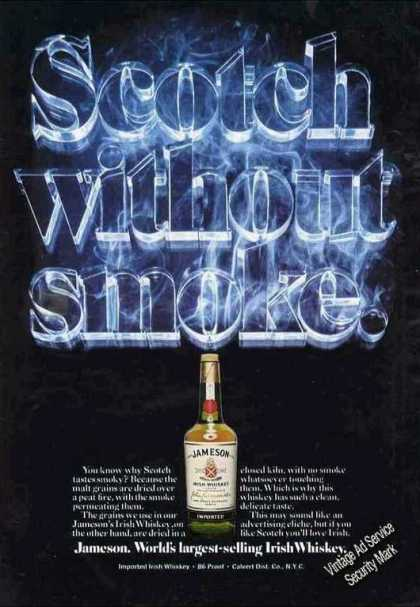 "Jameson Irish Whiskey ""Scotch Without Smoke"" (1975)"