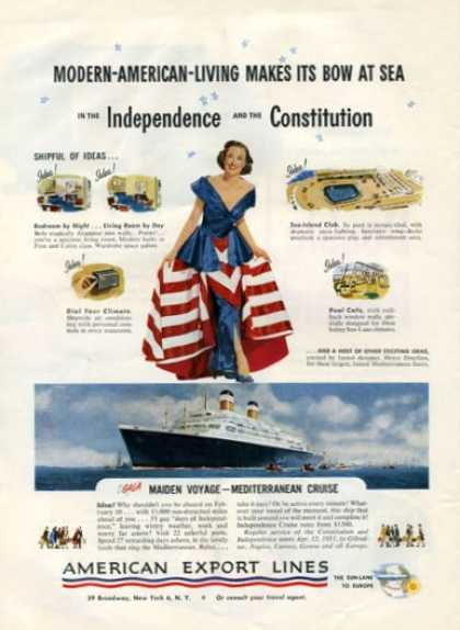 American Export Lines Cruise Ship Flag Dress (1951)