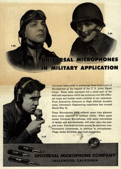 Universal Microphone Company's Various – Universal Microphones In Military Application (1944)