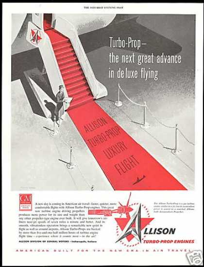 Allison Turbo Prop Airplane Engines (1955)