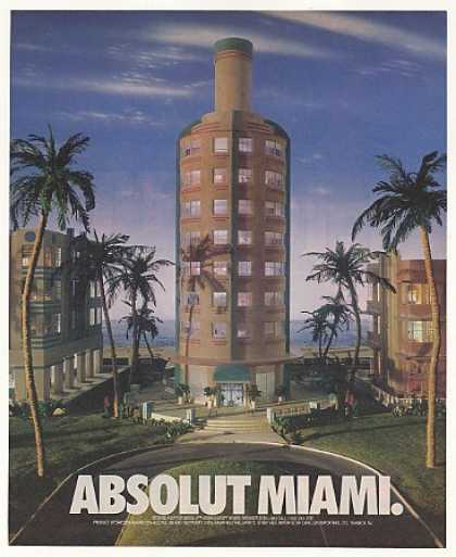 Absolut Miami Vodka Bottle Shaped Hotel (1992)