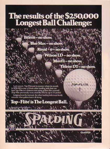 Spalding Top Flite Golf Ball – $250,000 Challenge (1976)