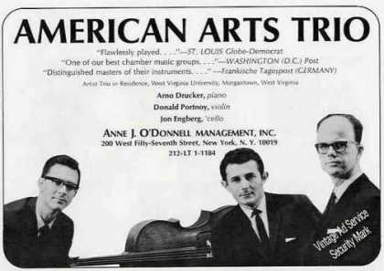 American Arts Trio Morgantown Wv Trade (1967)