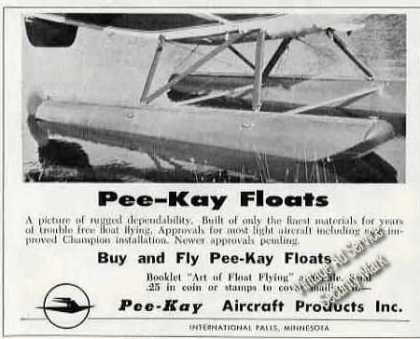 Pee-kay Floats Photo International Falls Mn (1962)