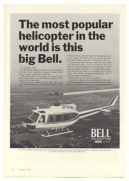 Bell 205A Most Popular Helicopter Photo (1971)