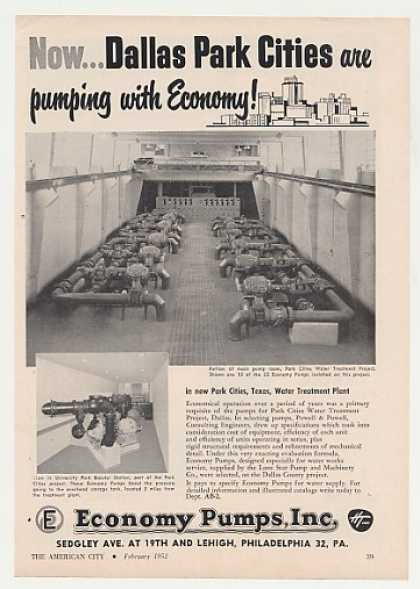 Dallas Park Cities Economy Pumps Photo (1952)