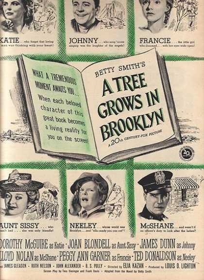 A Tree Grows In Brooklyn (Dorothy McGuire and Joan Blondell) (1945)
