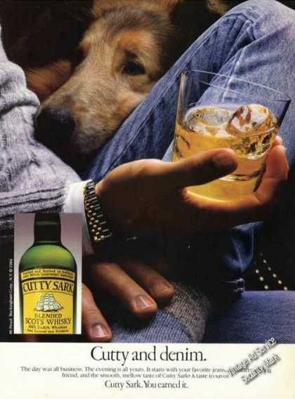 Cutty Sark and Denim Liquor Advertising (1984)