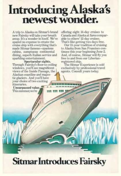 Sitmar Fairsky Alaska Cruise Ship (1984)