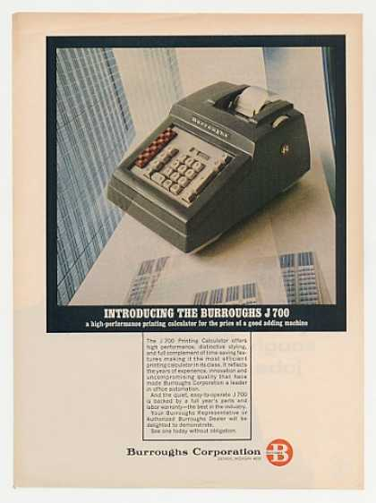 Burroughs J 700 Printing Calculator Photo (1965)