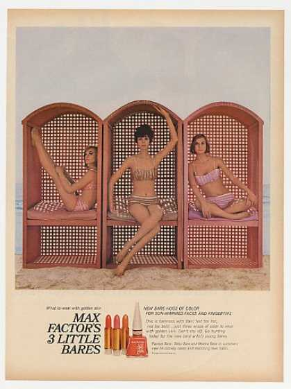 Max Factor 3 Little Bares Lipstick Bikini Girls (1965)