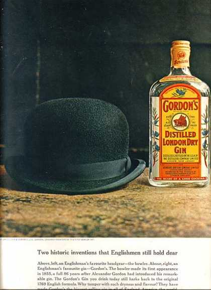 Gordon's Distilled London Dry Gin (1962)