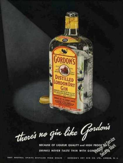 There's No Gin Like Gordon's Dramatic (1950)